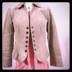 Stein Mart Soft Suede Leather Tan Jacket